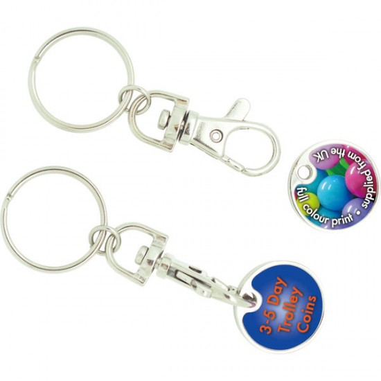 UK 3-Day Trolley Coin Keyrings