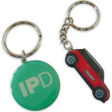 Printed Metal Keyring With Epoxy
